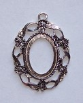 Antique Silver Open Back 25x18 Setting Filigree Style 574x