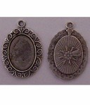 Antique Silver 18x13 Pendant Setting with Ring 623x