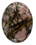 40x30mm Flat Backed Rhodonite gemstone loose oval cabochon semi-precious stone  655x