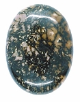 40x30mm Flat Backed Rhodonite gemstone loose oval cabochon semi-precious stone  655xE