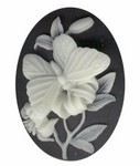 673q resin 40x30 black butterfly cameo