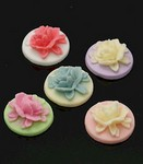 Resin Craft Decoration Mixed 18mm Flowers DOZEN PACK 689x