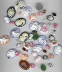Mixed Cameo Bulk Lot 1/4 LB Seconds Destash Lot Loose Cabochons 690q