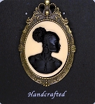 African American Woman Brooch Pin Pendant Black Ivory African Jewelry 718x787x