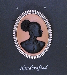 African American Woman Silver Brooch Pin Black Brown Jewelry Pin Gift 719x745x