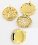 Gold Filigree Perfume Scent Locket 27mm Item 749x