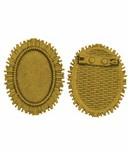 25x18mm Antique Gold Cameo Brooch Setting Frame with Pin 769x