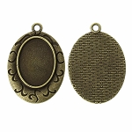 Antique Bronze 25x18mm pendant Setting with Loop Item 802x