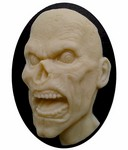 40x30mm Zombie Walking Dead Goth Style Black and Ivory Resin Cameo 820x