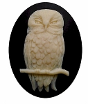 40x30mm Owl cameo Bird cabochon halloween supply goth 825x