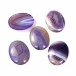 40x30mm Violet Blue Purple Dyed Agate Flat Backed Loose Semi-precious Gemstone Cabochon 858x