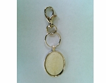 Key Chain with a 40x30mm Silver Cabochon Setting 878x