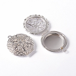 27mm Silver Filigree Scent Perfume Locket Aroma Lockets  910q