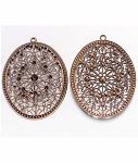 58x47mm Antique Bronze Filigree Jewelry Finding 914x