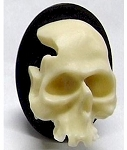 40x30mm  3D Skull Halloween Steampunk Embellishment Resin Cameo 928x