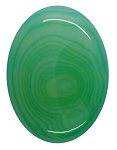 40x30mm Striated Green Dyed Agate Oval  Gemstone Cabochon 954xA