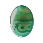 40x30mm Striated Green Dyed Agate Gemstone Cabochon 954x