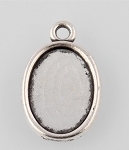 14x10mm Antique Silver Cabochon Pendant Setting 960x