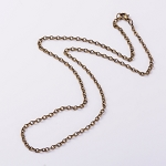 25 inch Antique Bronze Cable Chain Jewelry Necklace Links 4x3mm 976x