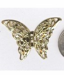 994q Gold 41x28mm filigree butterfly