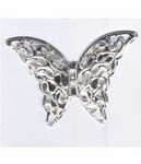 995q Silver 41x28mm filigree butterfly