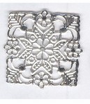 996q Silver Square Filigree