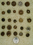 Antique Buttons Lot 25pcs Mirror Back Filigree Vintage Collectable Metal B638