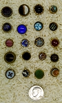 Antique Buttons 20pcs Glass Center Brass Waistcoat Buttons B644