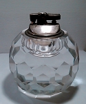 Vintage Lead Cut Crystal Elegant Table Lighter