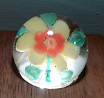 Vintage Chinese Art Glass Paperweight Circa 1930 Flower Copy of Baccarat