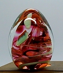SOLD    Vintage Art Glass Paperweight Wheaton Village Egg