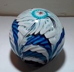 SOLD            Vintage Murano Paperweight Italian Crown Art Glass