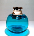 SOLD     Vintage Hand Blown Table Lighter Blue Glass Blenko