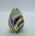 SOLD  Glass Eye Studio Paperweight Signed Irridescent Egg