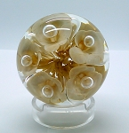 SOLD    Early Boyd Art Glass Studio Paperweight Five Flowers