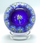 SOLD  Vintage Murano Flower Cane Paperweight Italian Millefiori Art Glass