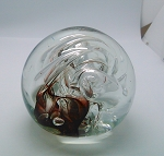 SOLD  Vintage Studio Art Glass Paperweight Brian Lonsway 1981 Nebula