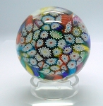 SOLD     Vintage Murano Paperweight Fratelli Toso Italian Millefiori Art Glass