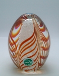 SOLD -  Vintage Murano Pulled Feather Paperweight Italian Millefiori Art Glass