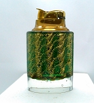 Vintage Art Glass Mid-Century Murano Italian Table Lighter Green