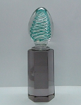 Signed Venini Murano Paperweight Latticino mid Century Art Glass
