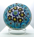 SOLD - - Vintage Chinese Art Glass Paperweight Millefiore unusual