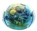 SOLD - - Contemporary Signed Art Glass Paperweight Seegers Fein Studio Blown