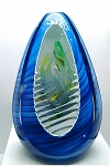 SOLD -  Remigijus Kriukas Studio Art Glass Paperweight Large Egg Signed