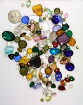Vintage Glass Rhinestone Jewelry Repair Lot Loose foiled unfoiled mixed stones L120
