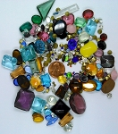 Vintage Glass Rhinestone Jewelry Repair Lot Loose foiled unfoiled mixed stones L28
