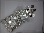 11mm silver earring post setting LARGE LOT 500pcs.  L38