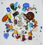 Vintage Glass Rhinestone Jewelry Repair Lot Loose foiled unfoiled mixed stones L87