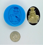 Gothic Zombie Uncle Samm Food Safe Silicone Cameo Mold for candy soap clay resin