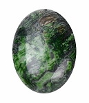 25x18mm Green Dyed Riple Jasper Semi-Precious gemstone Flat back cabachon S2093